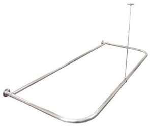Bowed Clawfoot Tub Shower Curtain Rod 2