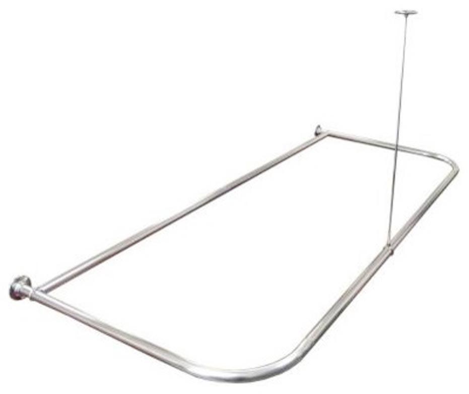 bowed clawfoot tub shower curtain rod 2