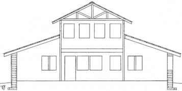 Common pole house floor plans style