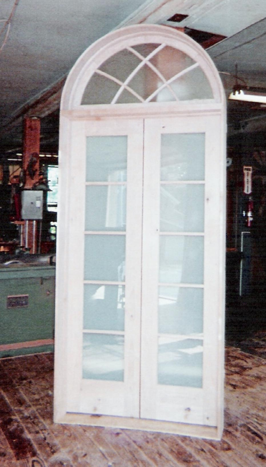 Interior storm doors for french doors with frosted glass for Glass french doors