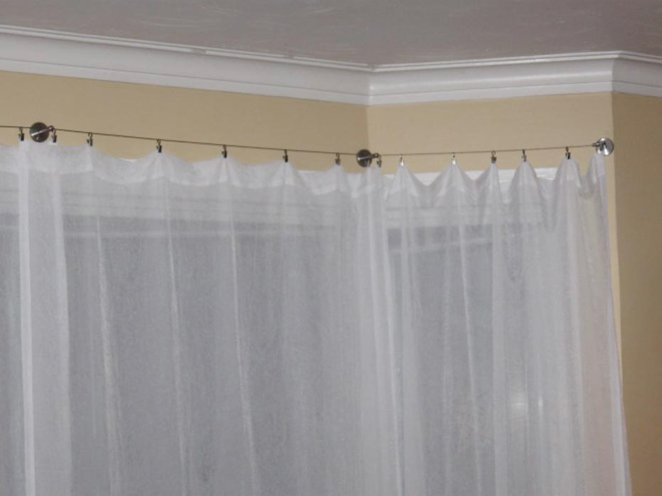 double bow window curtain rods ikea 2