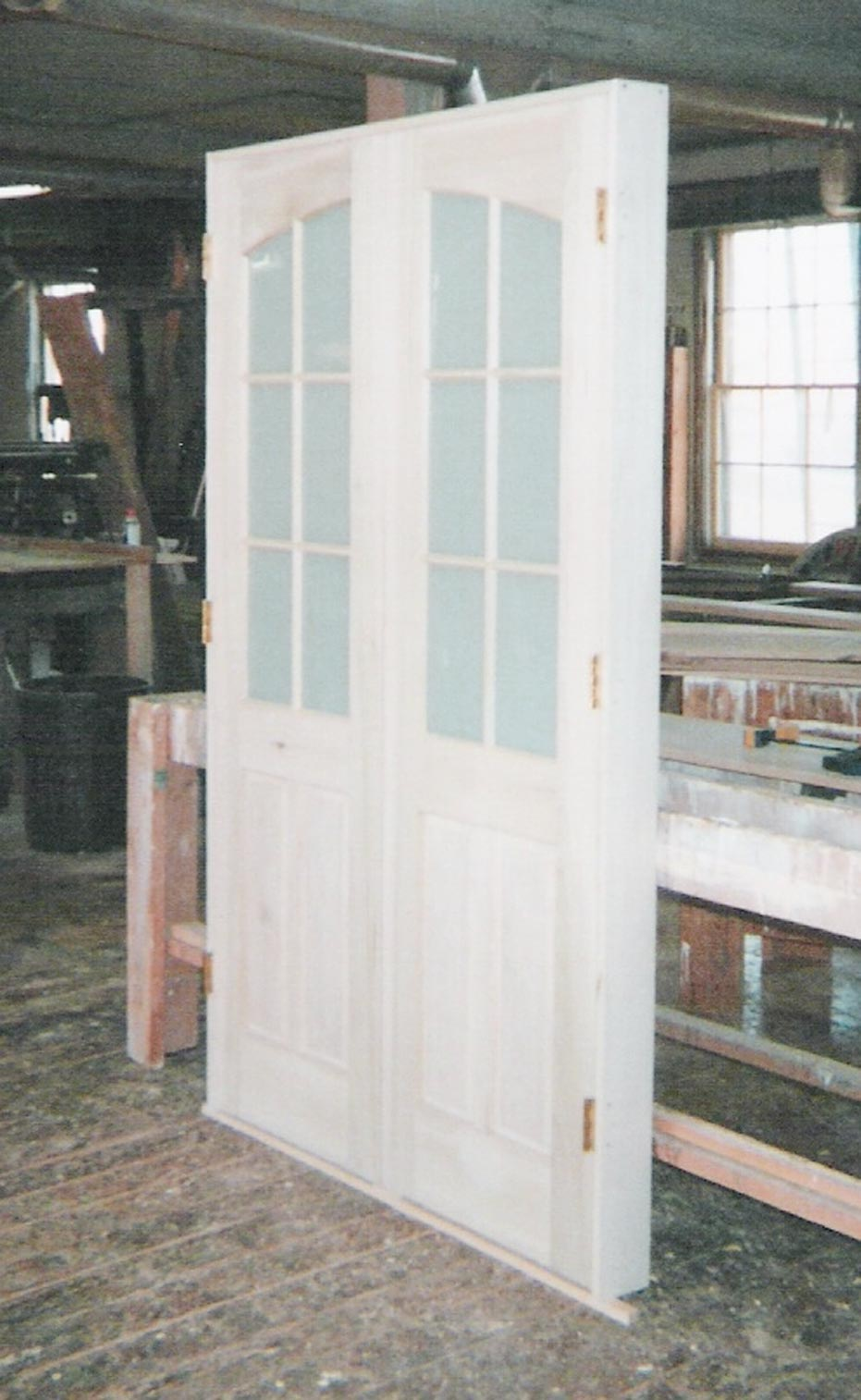 Interior Storm Doors With Decorative And Clear Glass Doors