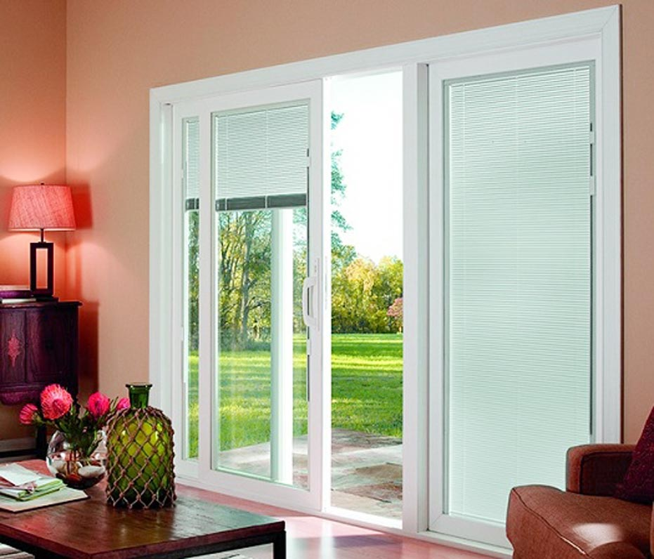 Sliding Gl Doors With Blinds Inside