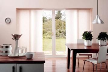 Valances for sliding glass doors with blinds inside