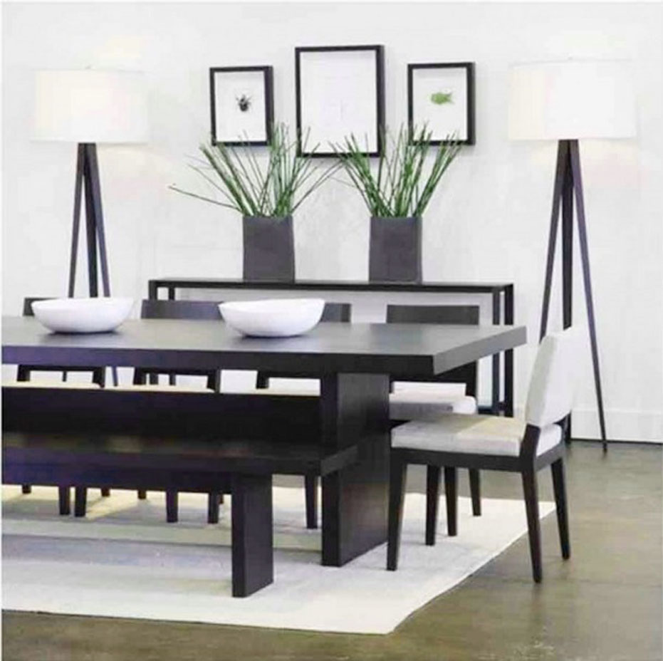 The decorations of butcher block dining room tables for for Dining room tables for small spaces
