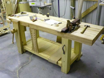 Garage wooden work bench plans 2