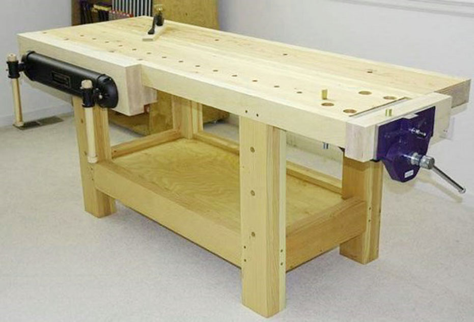garage wooden work bench plans pictures