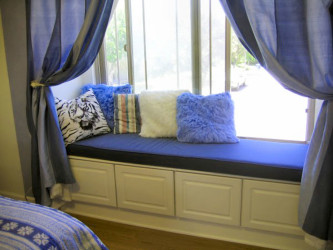 Image of window seat cushions indoor bench