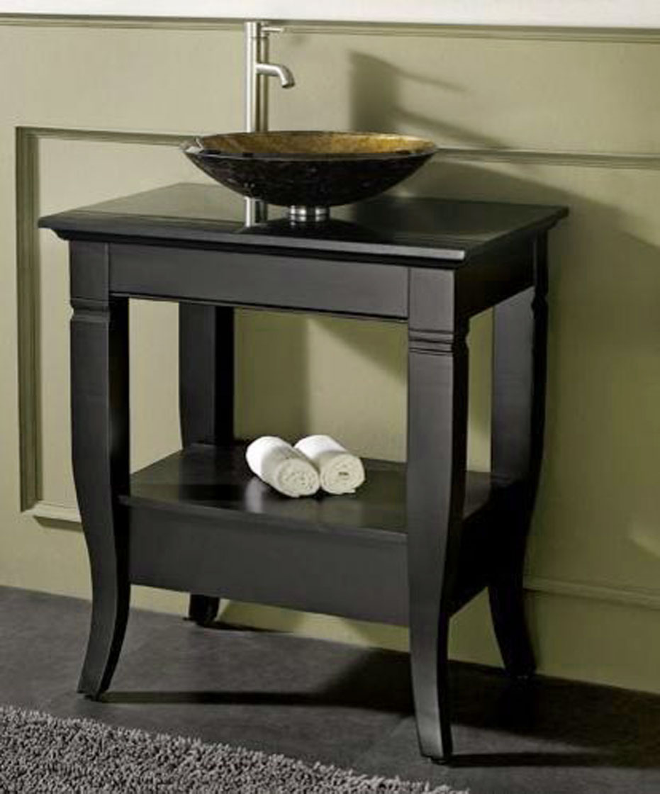 Small bathroom vanities with vessel sinks as an for Bathroom sinks and vanities