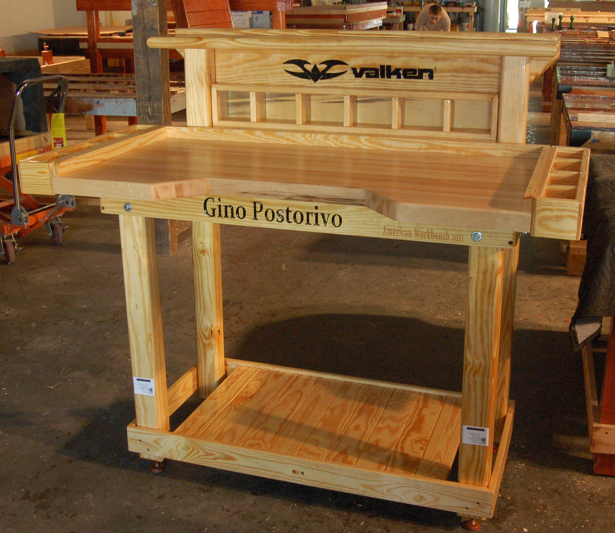 ... Workbench : Garage Wooden Work Bench Plans Functions | Spotlats