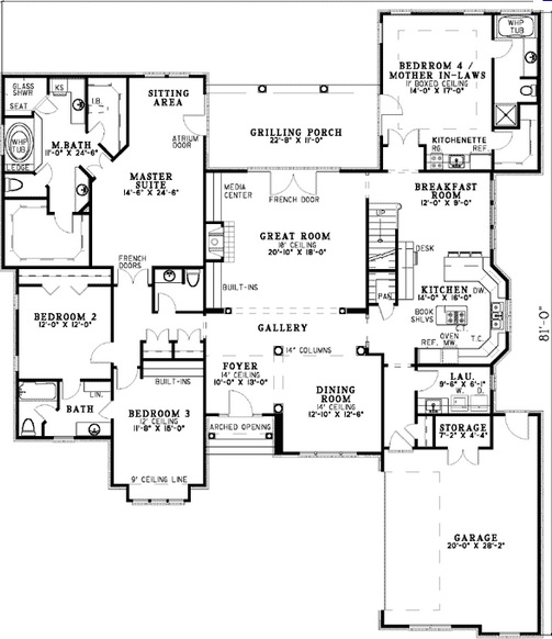 Architectural designs spotlats for Mother in law addition floor plans