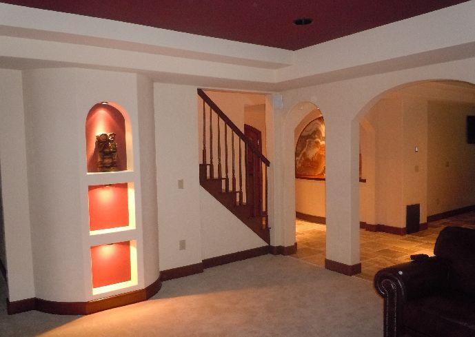 Basement finishing system advantages spotlats for Advantage basements