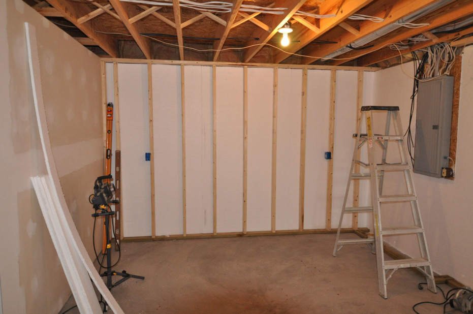 Basement wall finishing panels diy basement wall How to finish a concrete wall