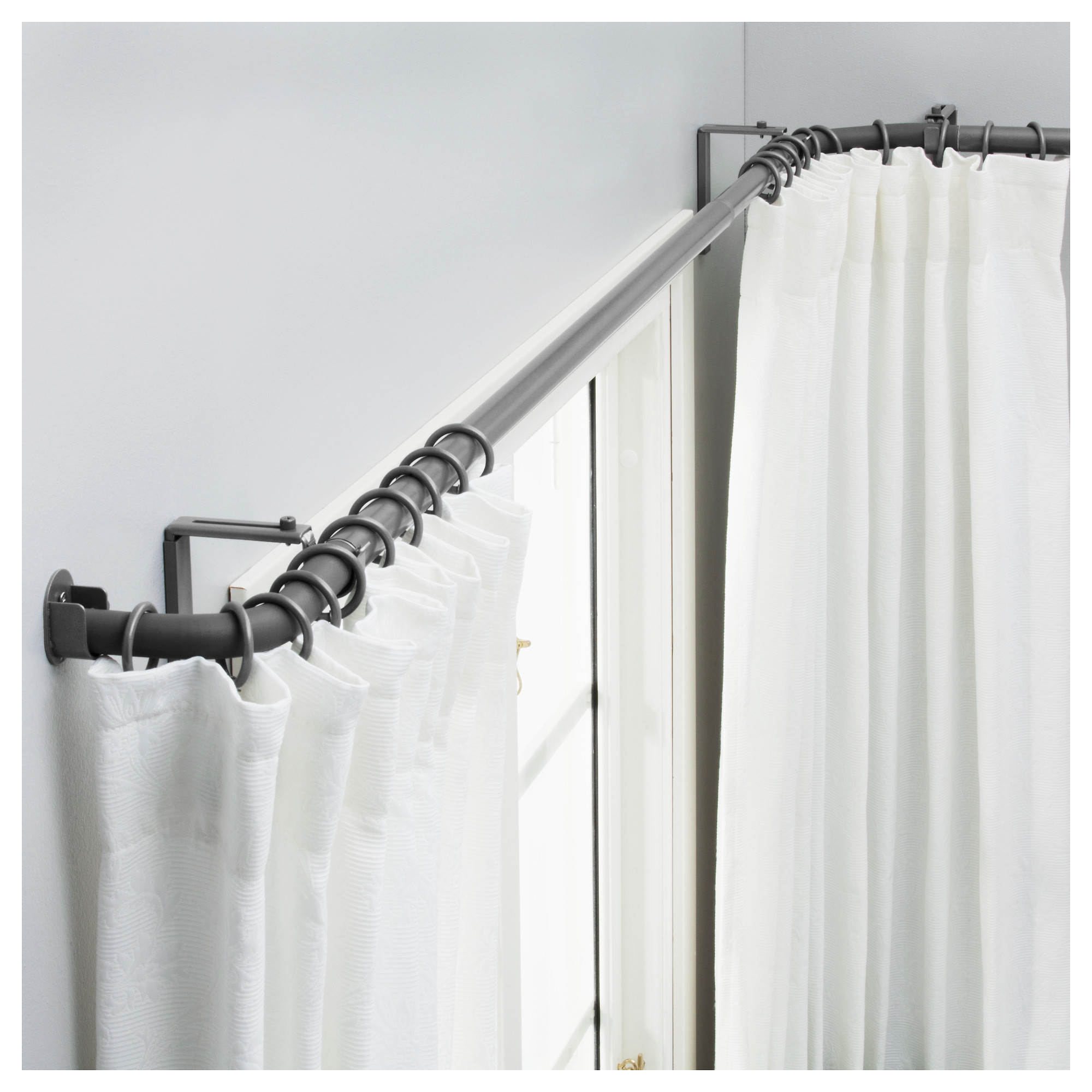 bow window curtain rods ikea for your window treatment spotlats