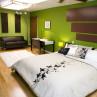 Bright Green Walls Bedroom Design