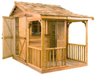 Bunkie Cedar Wood Shed