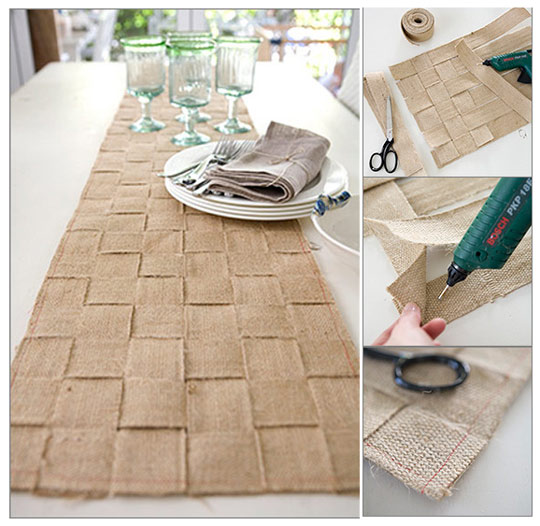 Burlap Table Runner Picture