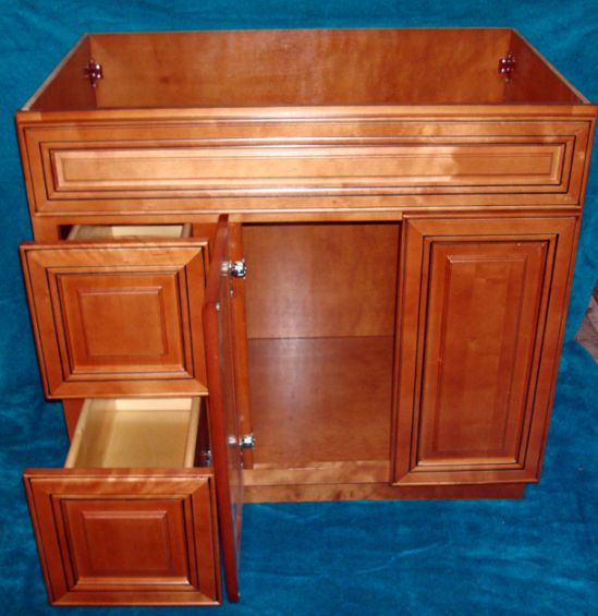 Cabinet vanity spotlats - Using kitchen cabinets for bathroom vanity ...