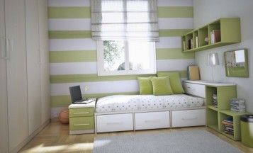 Cool Teen Green Dorm Room