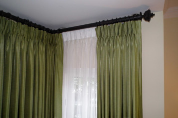 Corner Curtain Rod Photos