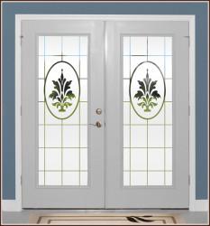 Doral Etched Glass Door Panels
