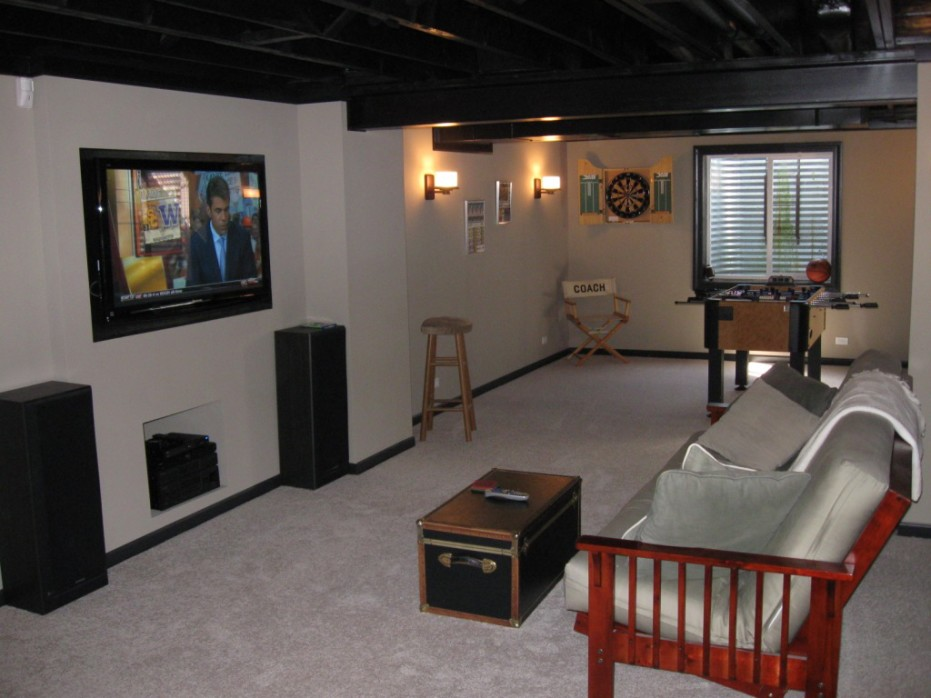 finished basement spotlats. Black Bedroom Furniture Sets. Home Design Ideas