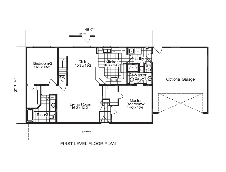 Floorplan image spotlats for Manufactured homes with inlaw suites