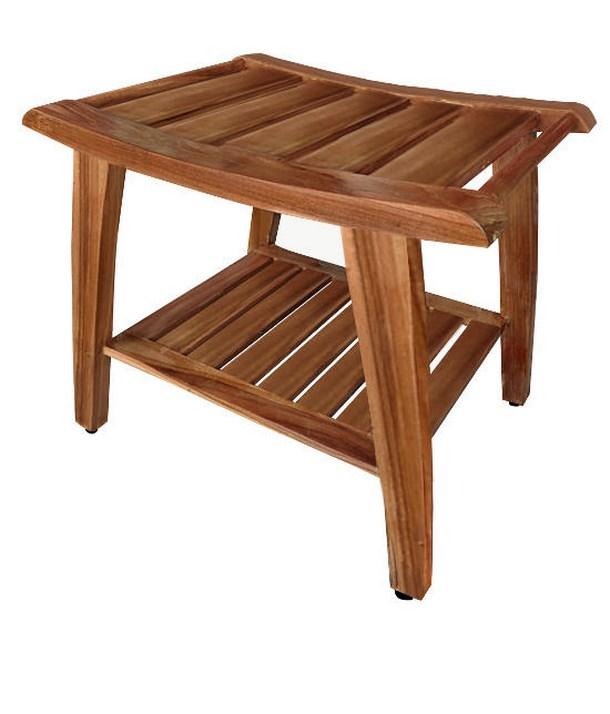 Folding Teak Wood Shower Bench Spotlats