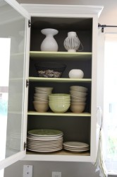 Glass Front Kitchen Cabinet