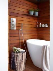 Ideas Wooden Bathroom Interiors