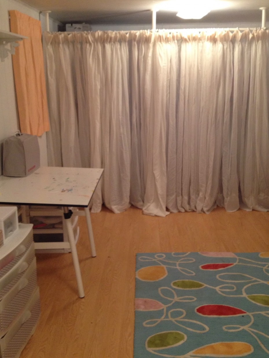 ikea room divider to border spotlats