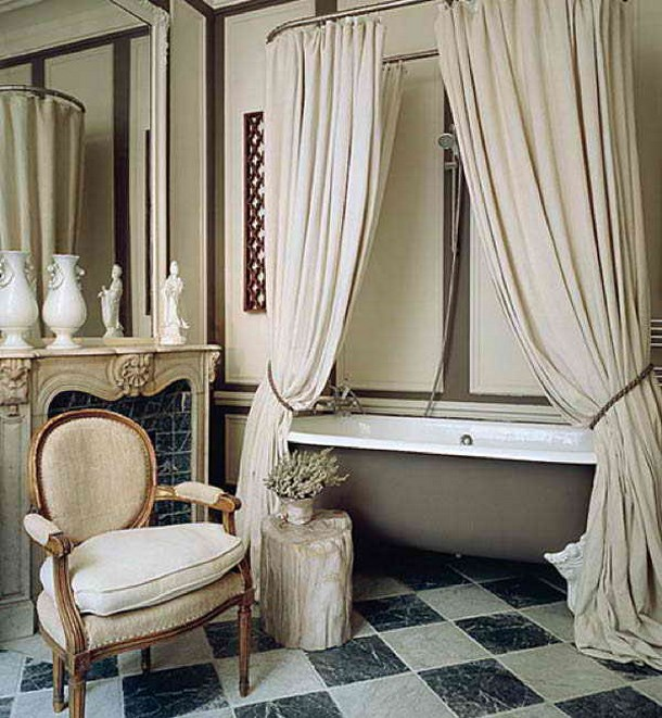 Mounted Shower Curtain