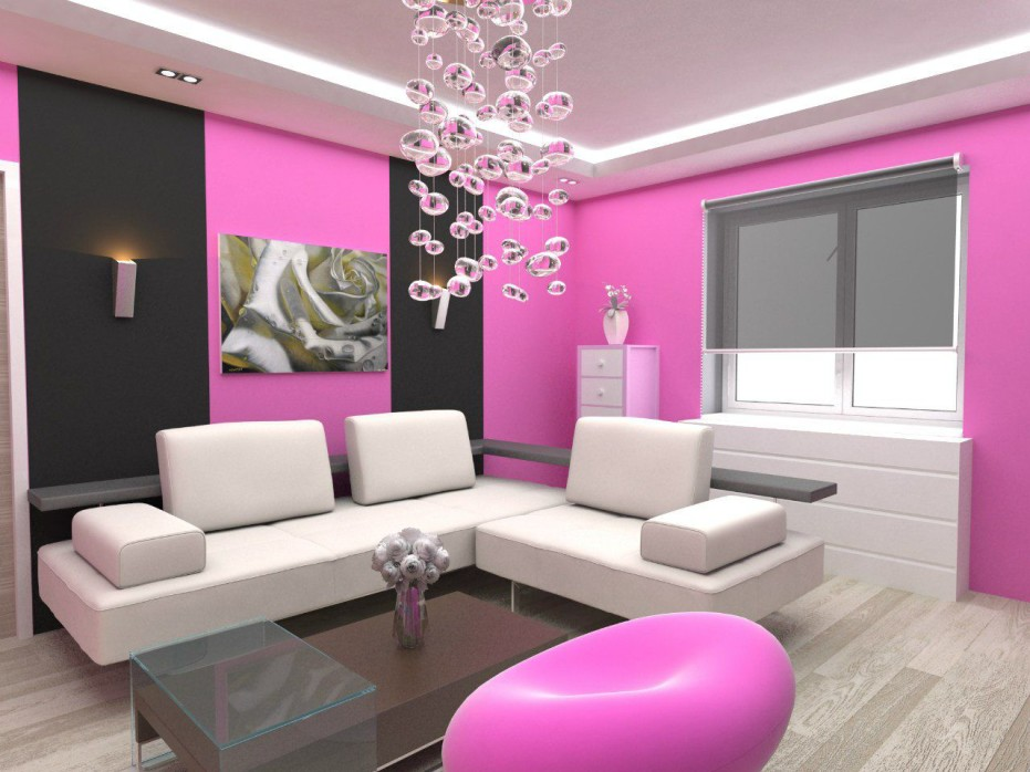 Pink Wall Paint For Living Room