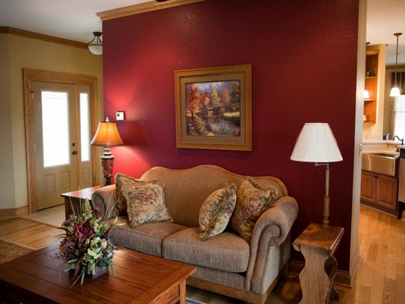 Small living room red wall painting ideas spotlats for Small living room paint ideas