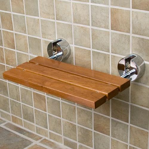 Teak Wood Modern Folding Shower Seat