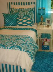 Teal Dorm Room Bedding