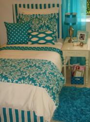 Teal Dorm Room Bedding