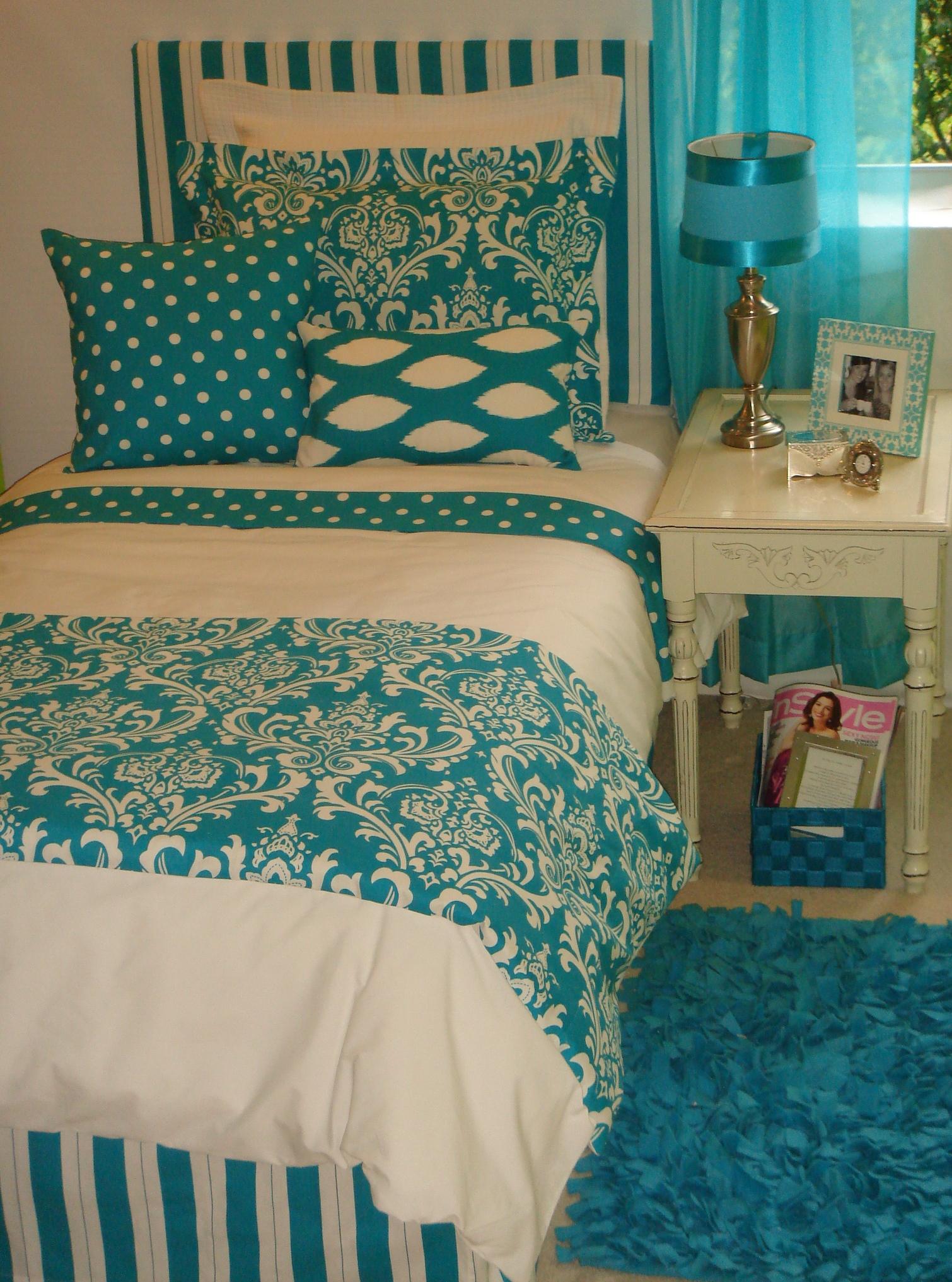 Teal Dorm Room Bedding Spotlats