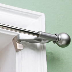Twist And Fit Decorative Curtain Rod