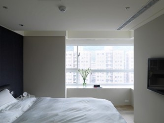 White Master Bedroom Wall