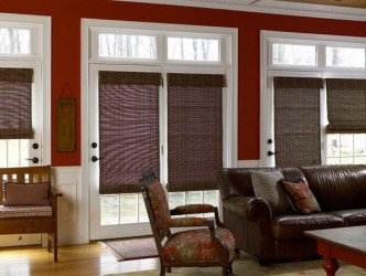 Window Coverings For French Doors Bay Windows