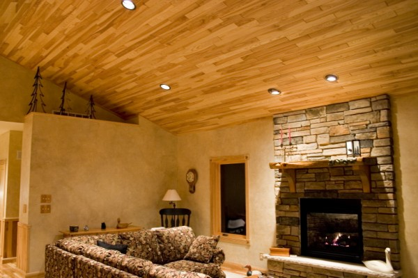 wood paneled ceiling spotlats. Black Bedroom Furniture Sets. Home Design Ideas