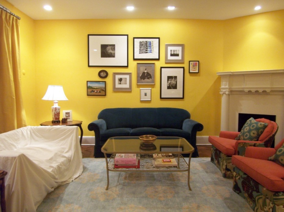 YELLOW Wall Painting Designs Images