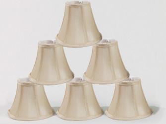 Burlap Chandelier Lamp Shades