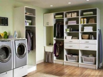 Engaging Laundry Room Storage