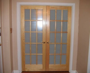 Interior storm doors for french doors with frosted glass for Storm doors for french doors