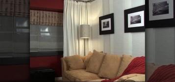 Install Hanging Room Divider