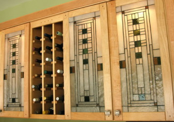 Leaded Glass Cabinet Inserts