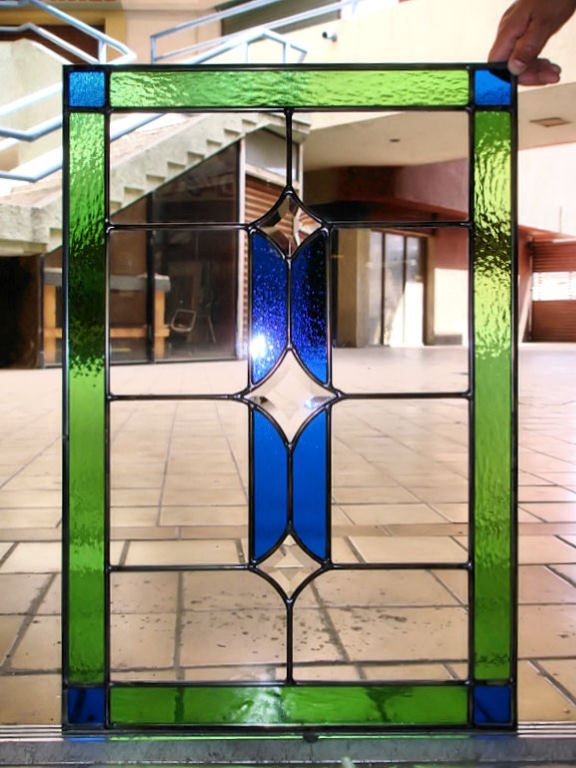 Leaded glass windows spotlats for Stained glass kitchen windows