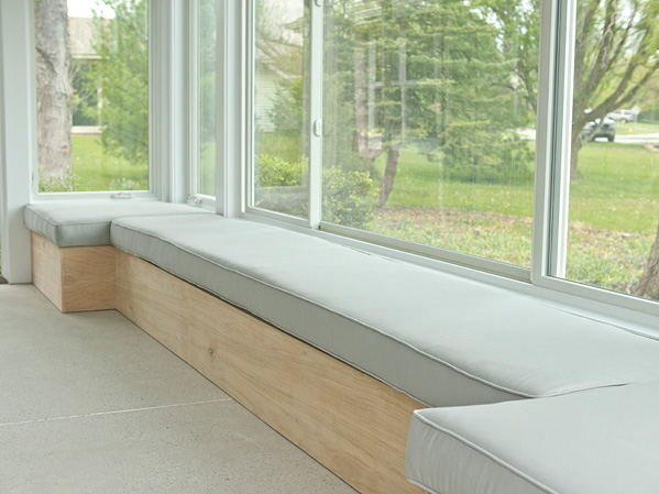 Modern bench seating spotlats